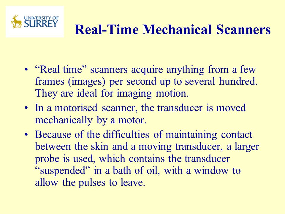 Real-Time Mechanical Scanners