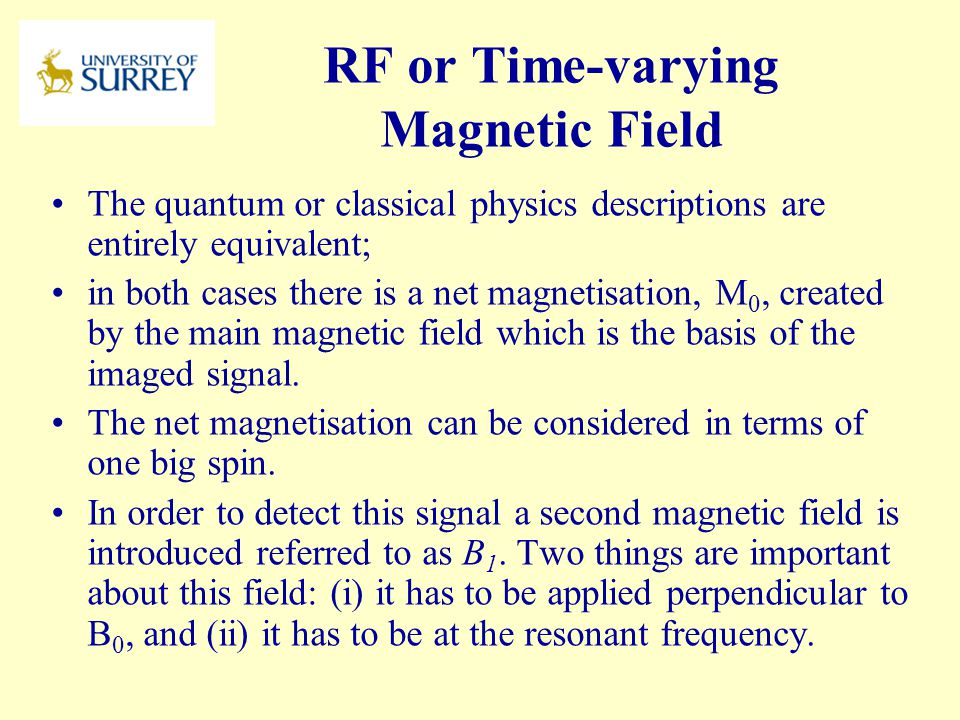 RF or Time-varying Magnetic Field