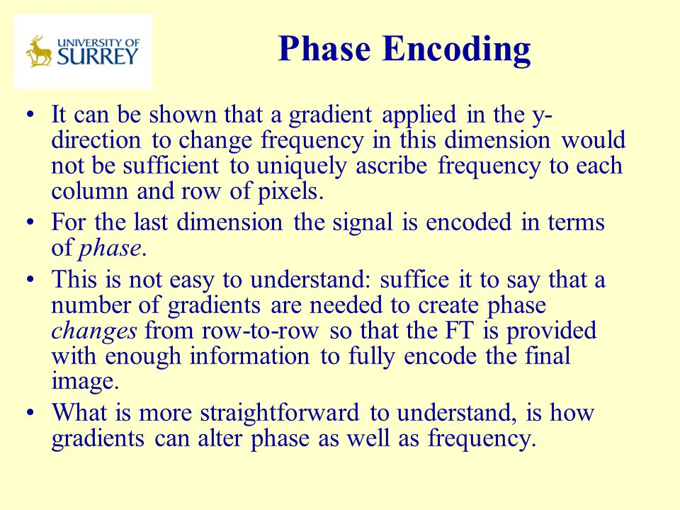 PH3-MI April 17, 2017. Phase Encoding.