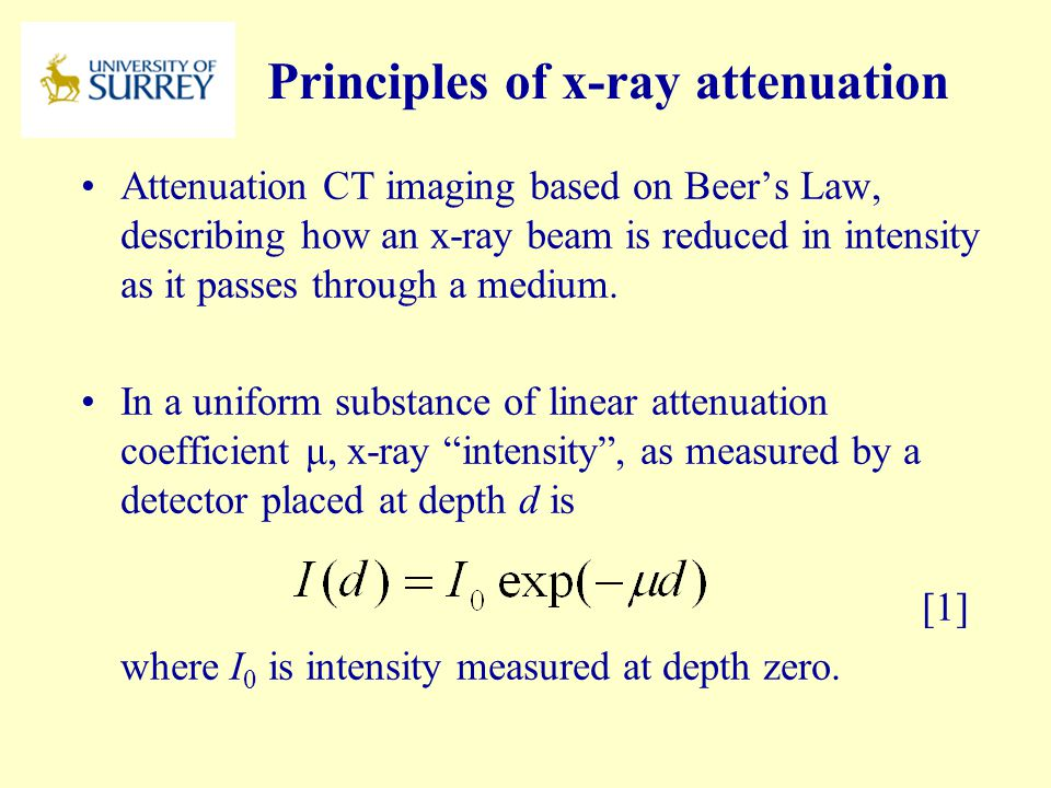 Principles of x-ray attenuation