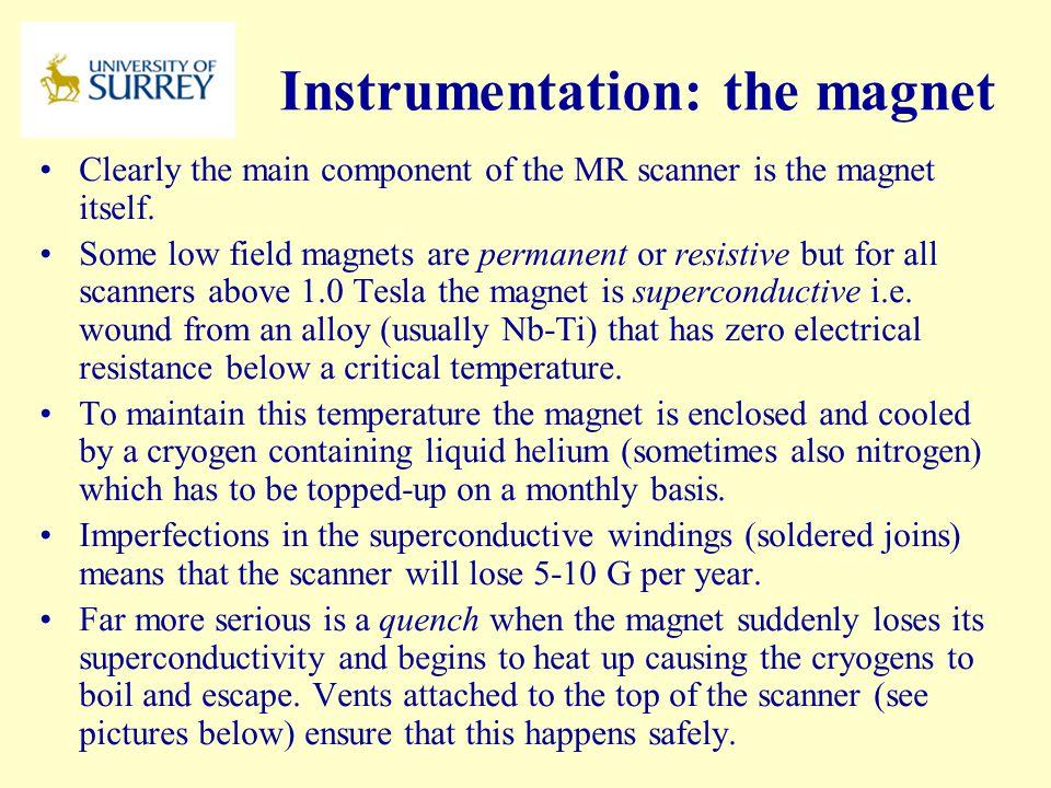 Instrumentation: the magnet