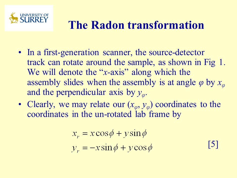 The Radon transformation