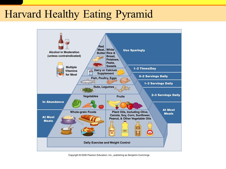 Healthy Food Pyramid Serving Sizes