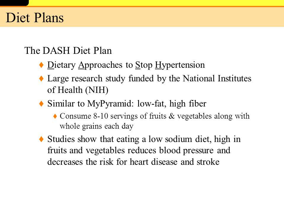 Dash diet or low sodium diet