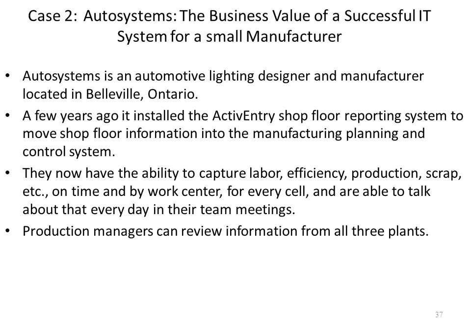 autosystems the business value of a We value the expertise they have demonstrated in the area of coding and packaging systems integration and we look forward to our business autocoding systems ltd.