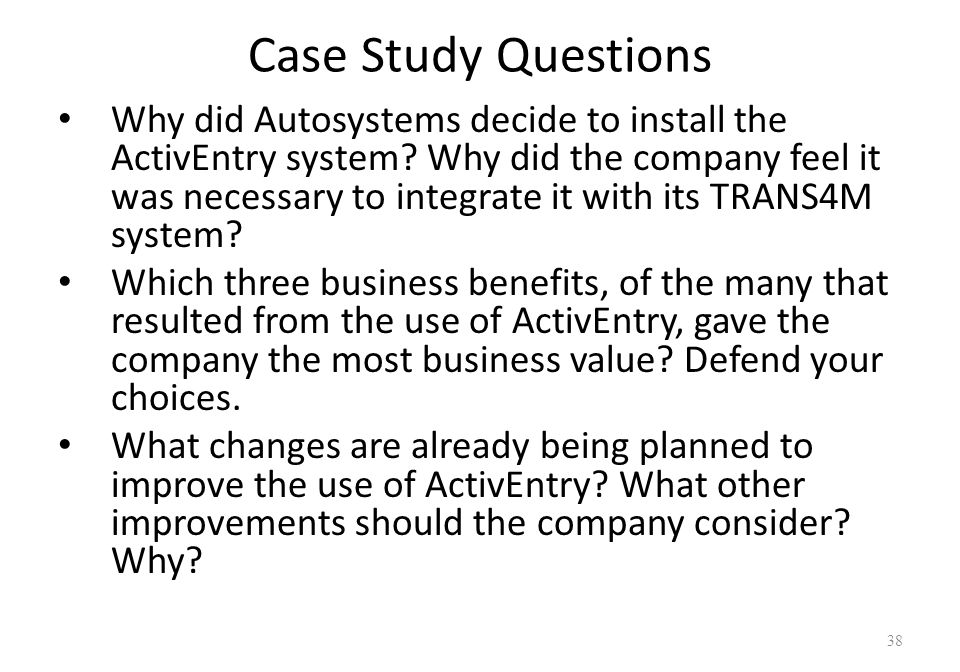 Autosystems the business value of a