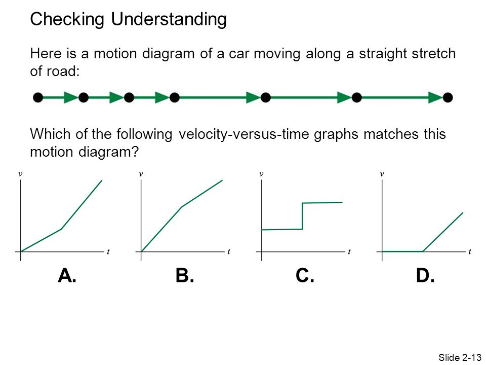 Physics 151 Week 2 Day 3 Topics Motion Diagrams Motion Graphs