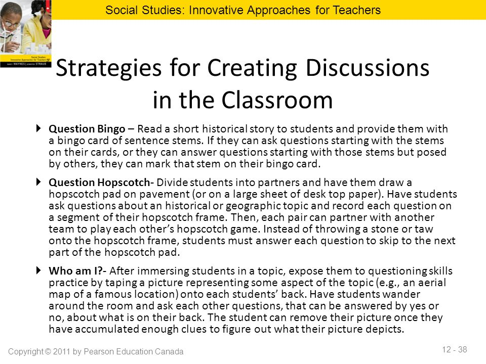 Innovative Classroom Strategies For Effective On Educational Transaction : Chapter classroom discussion to promote effective