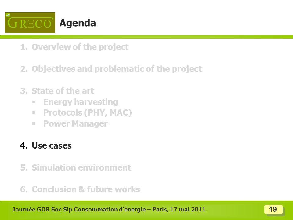 Journée GDR Soc Sip Consommation d'énergie – Paris, 17 mai 2011
