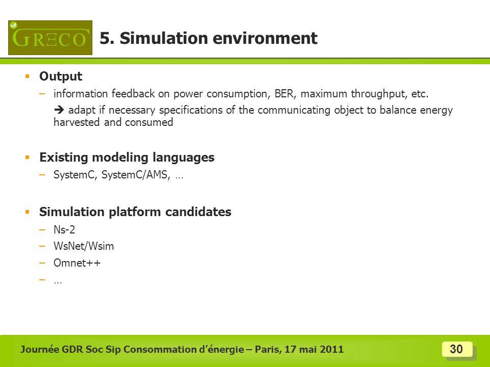 5. Simulation environment