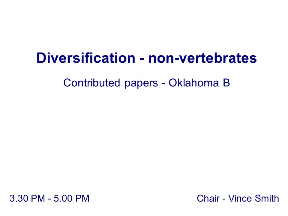 Diversification - non-vertebrates
