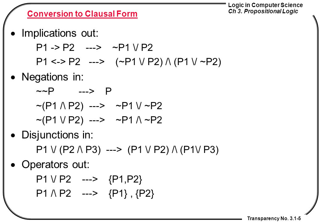 Conversion to Clausal Form