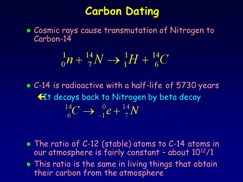 Carbon dating beta decay formula 8