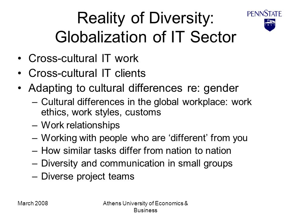 globalisation and workplace diversity Diversity in the workplace: a strategic imperative we live in an age of globalization and knowledge economy business organizations and academic institutions will be successful only to the extent that they are able to embrace and encourage workforce diversity.