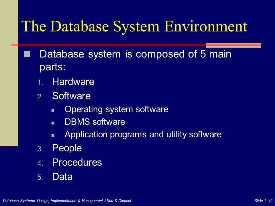 Chapter 1 Database Systems - ppt download