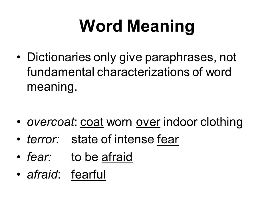 word meaning in semantics pdf