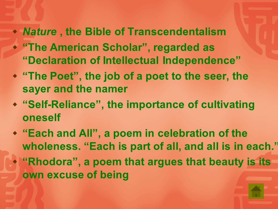 transcendentalism poem Biography biographies essays - transcendentalism in the poems of whitman.