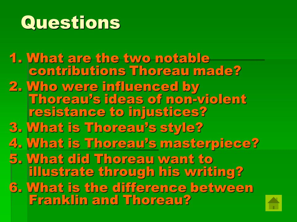 an introduction to the comparison of thoreau and emerson Henry david thoreau introduction henry david thoreau was an american author, poet, abolitionist, naturalist, tax resister, development critic, surveyor, historian , philosopher andtranscendentalist henry david thoreau was a complex man of many talents who worked hard to shape his craft and his life.