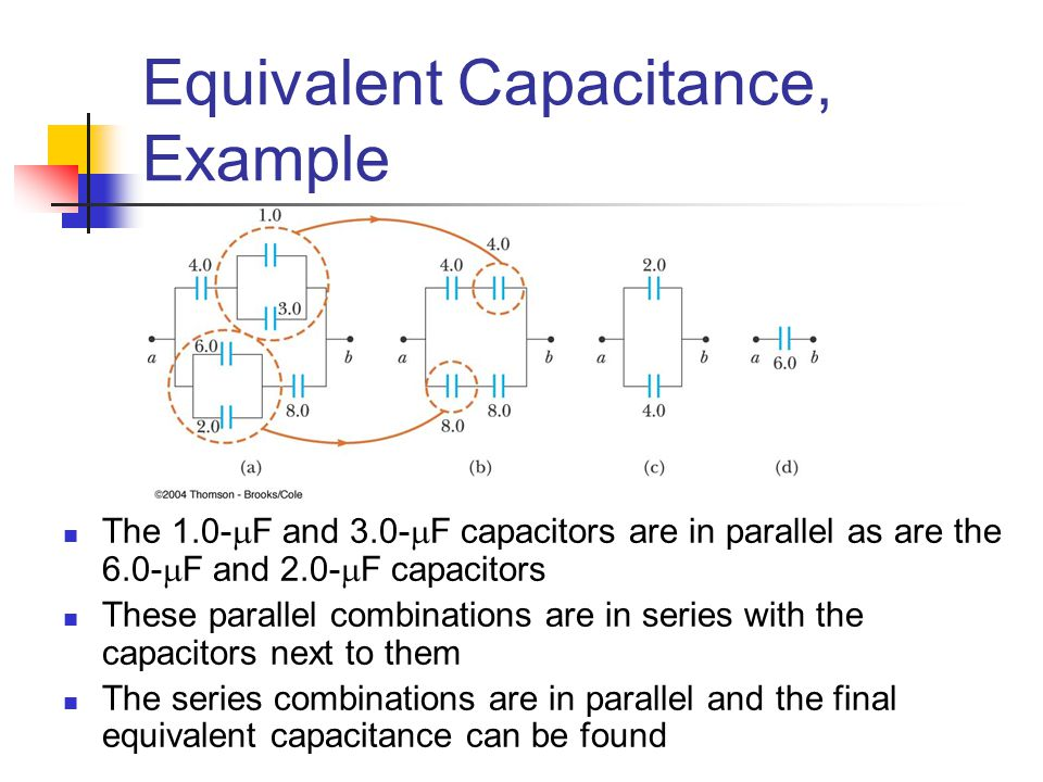how to find equivalent capacitance