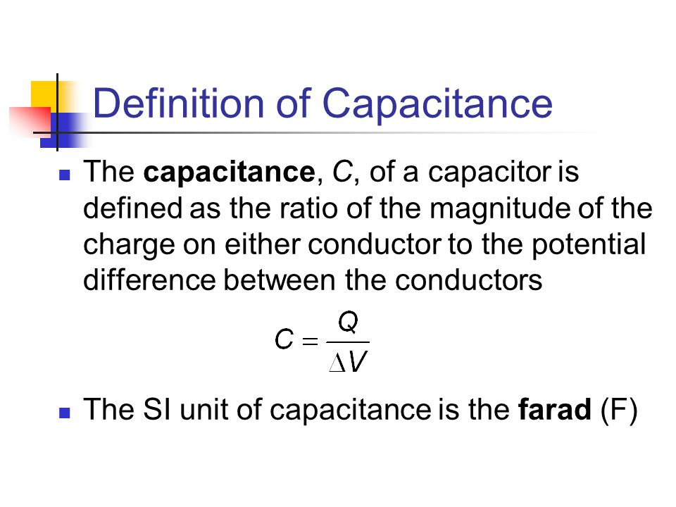 Capacitance unit