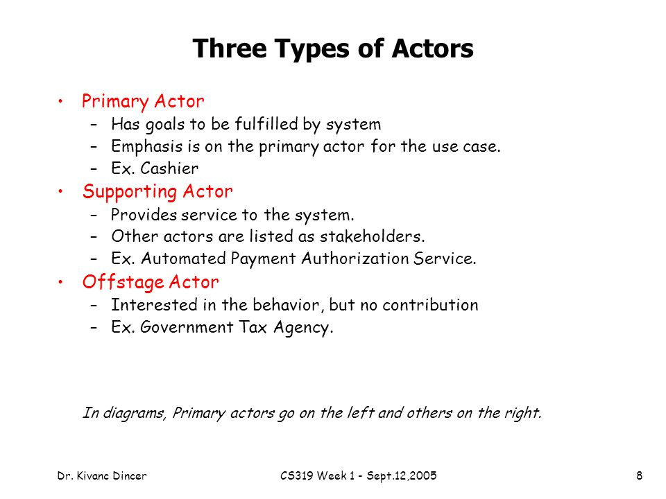 types of actors An actor's workplace will vary depending on the type of production involved  some film and television shows, as well as most advertisements, will be filmed in .