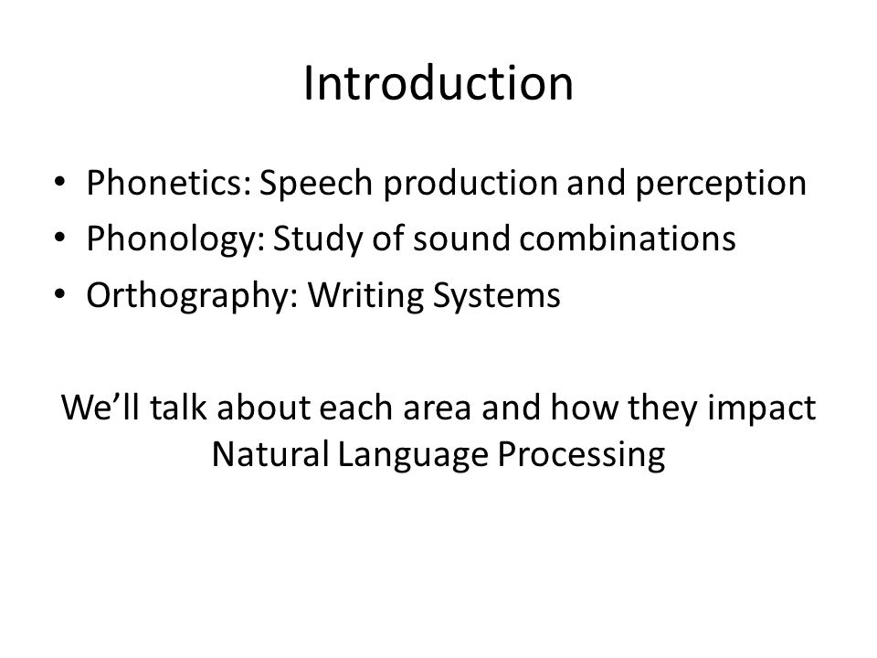 introduction phonetics  speech production and perception