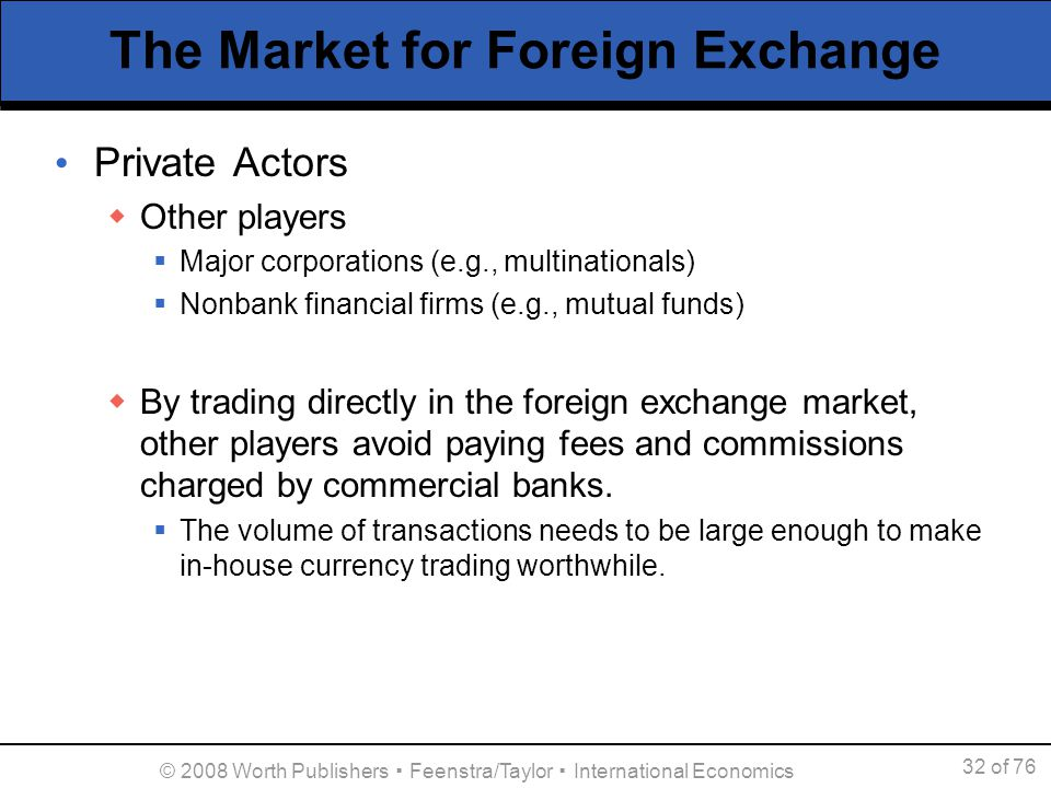 """a brief introduction of the intervention in the foreign exchange market An introduction to the foreign exchange markets one type of government intervention retail and inter-bank market the """"spot"""" market for foreign."""