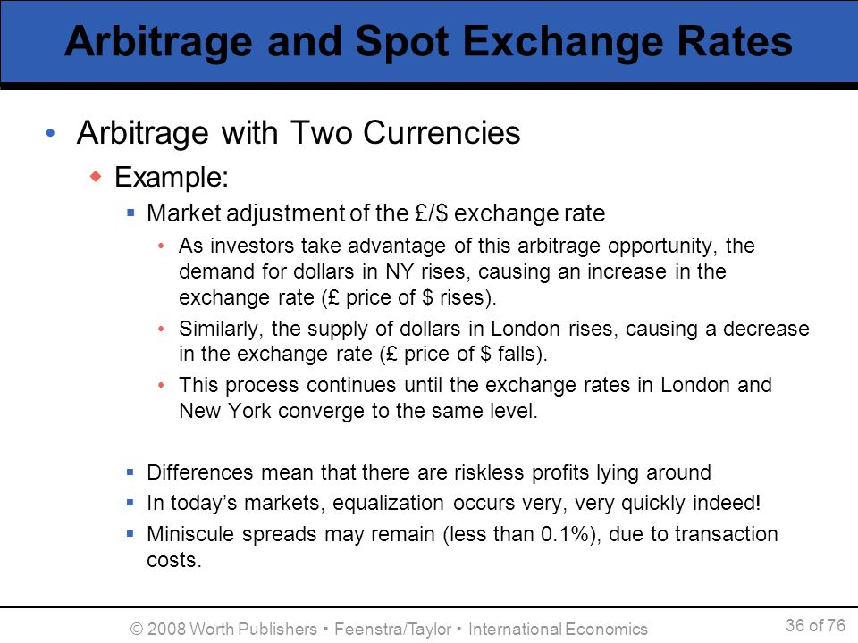 Covered interest arbitrage, foreign exchange