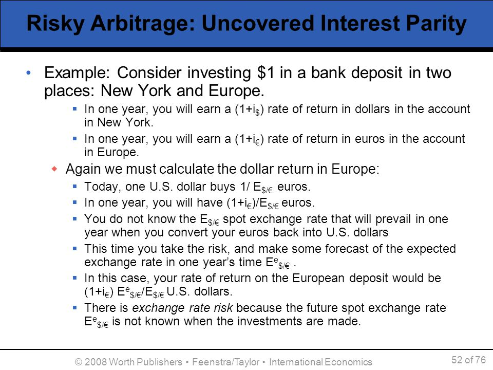 Exchange Rate Arbitrage Example Different Email Sites