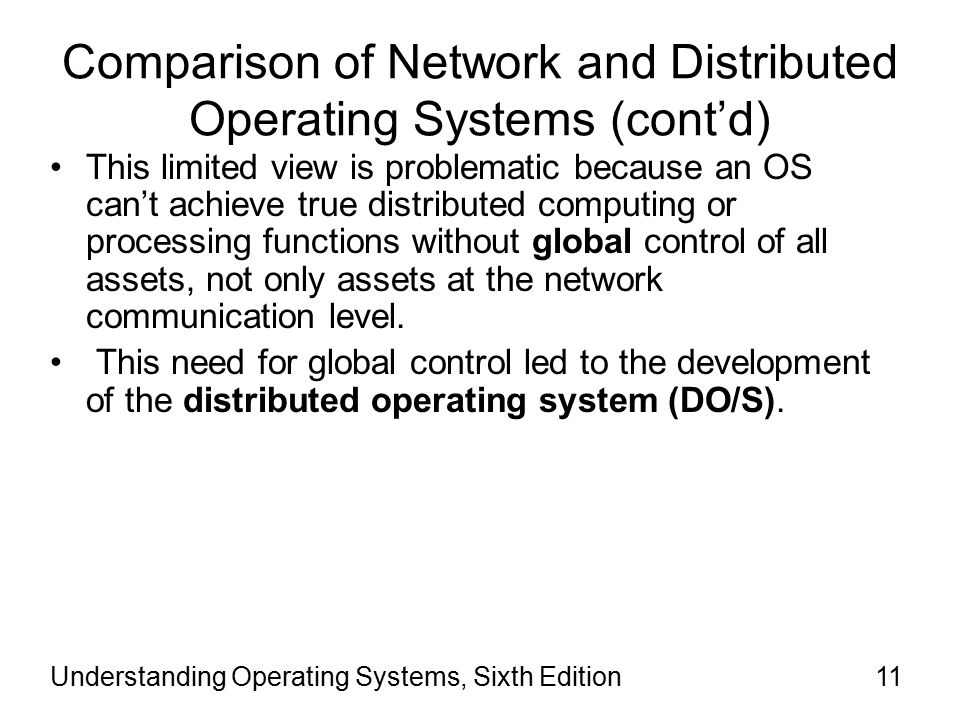 comparison of network operating systems This page is an attempt to maintain a list of all network operating systems (noss) and network-centric applications that that are available in the market today, in no.