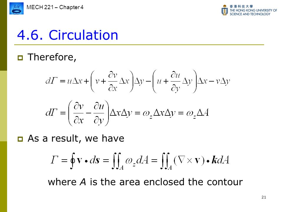 4.6. Circulation Therefore, As a result, we have