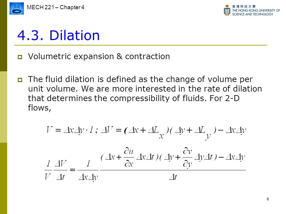 4.3. Dilation Volumetric expansion & contraction