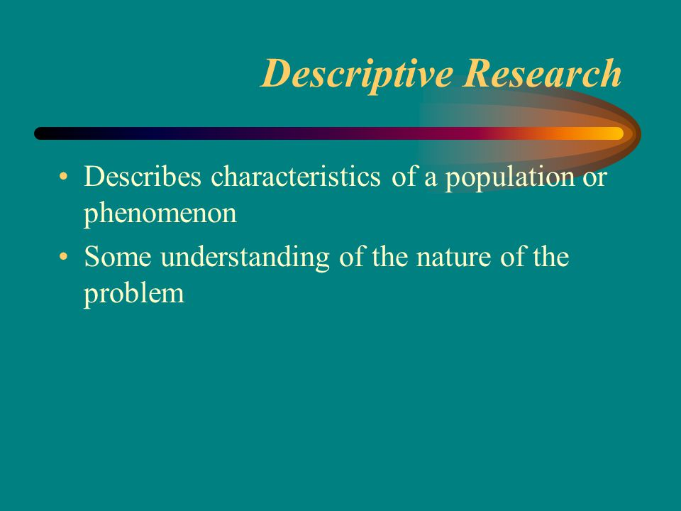Features of marketing research