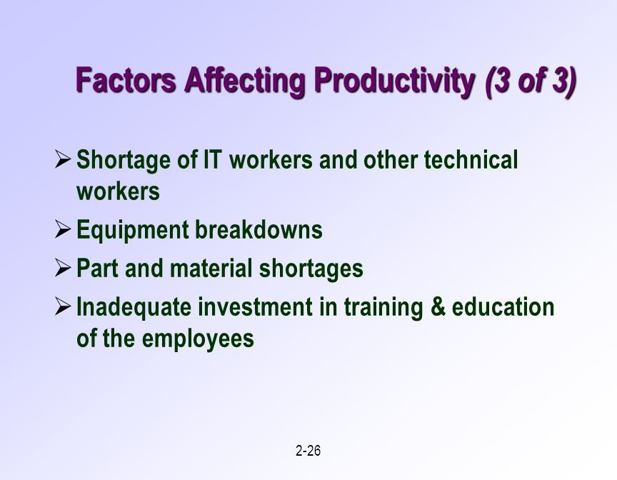 How Temperature Affects Productivity