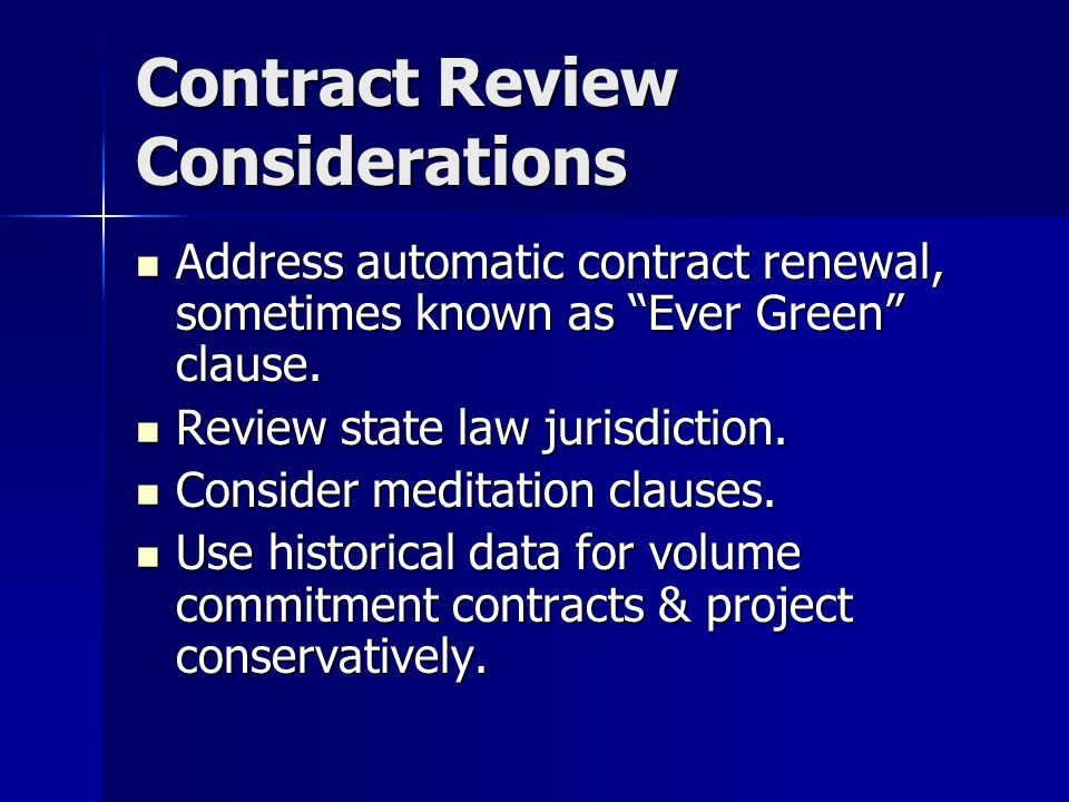 Contract Review Considerations