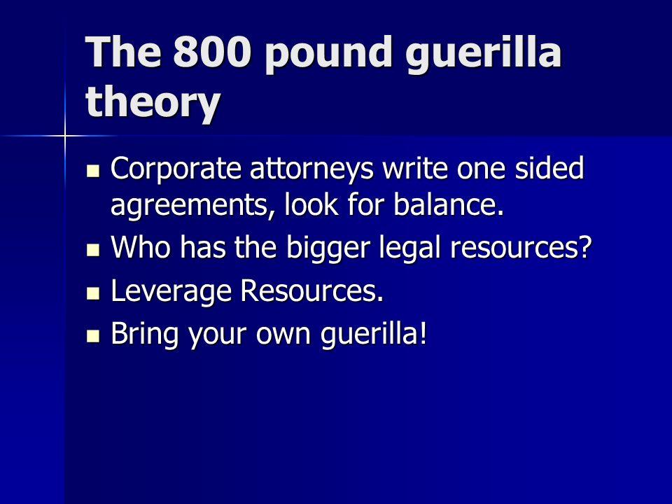 The 800 pound guerilla theory
