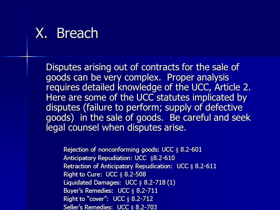 X. Breach