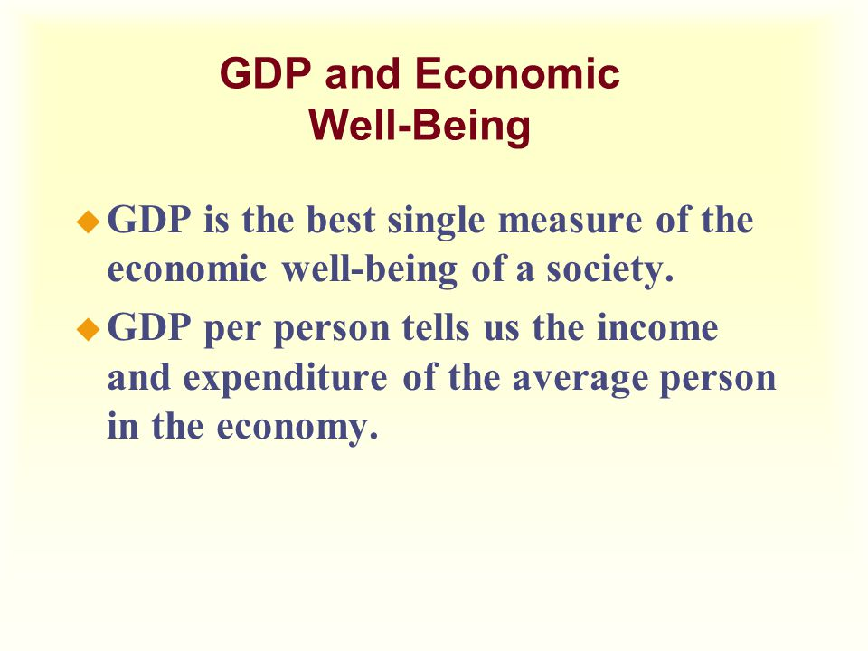 GDP and Economic Well-Being