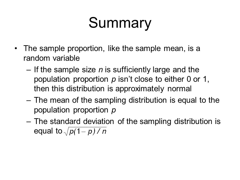 sample size and sampling mechanics sampling Statistical inference allows us to generalize sample results to the target population random sampling ensures the ³representativeness´ of the sample sample size is based on the research objectives/design sample estimates, variability from previous studies power, level of confidence operational constraints (time, resources.
