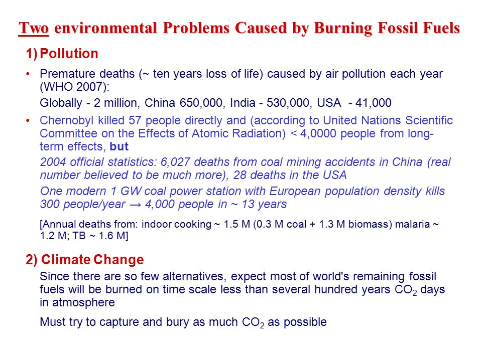 environmental issues with fossil fuels