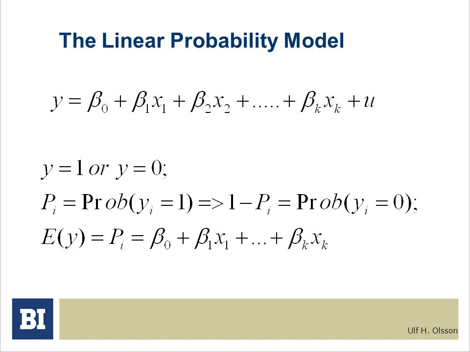 The Linear Probability Model on statistics and probability problems