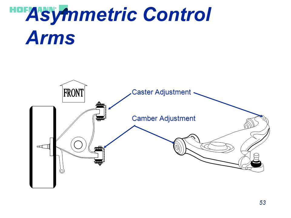 Asymmetric Control Arms