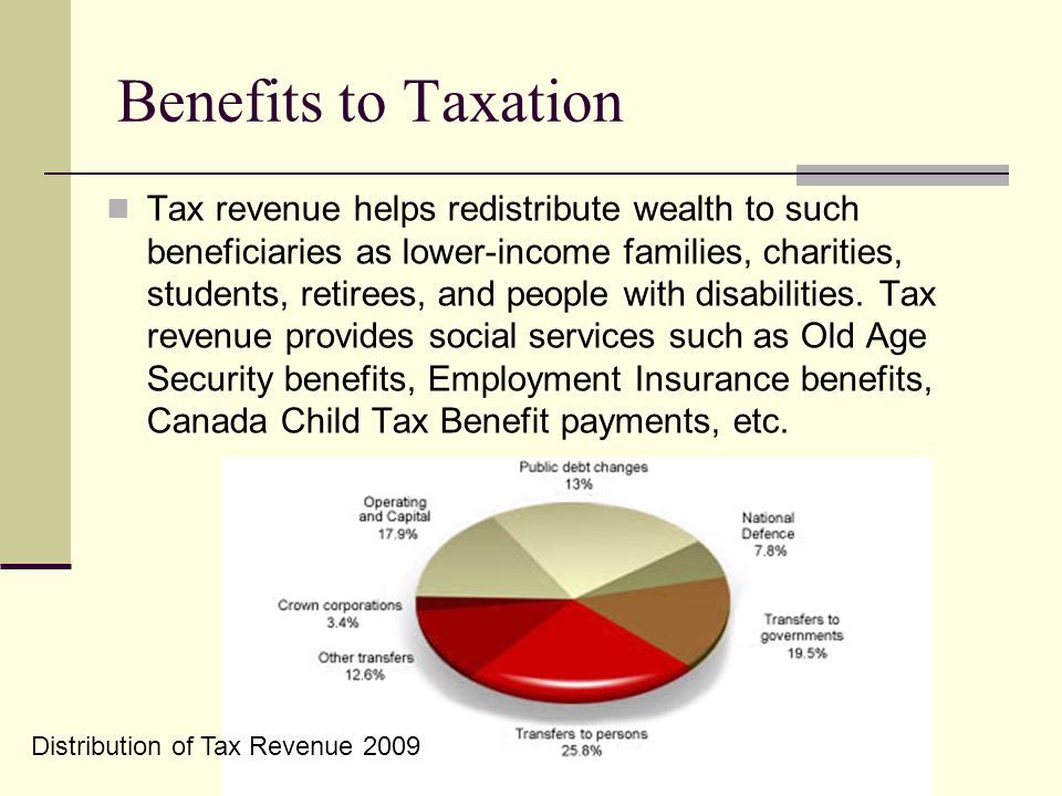 Benefits to Taxation