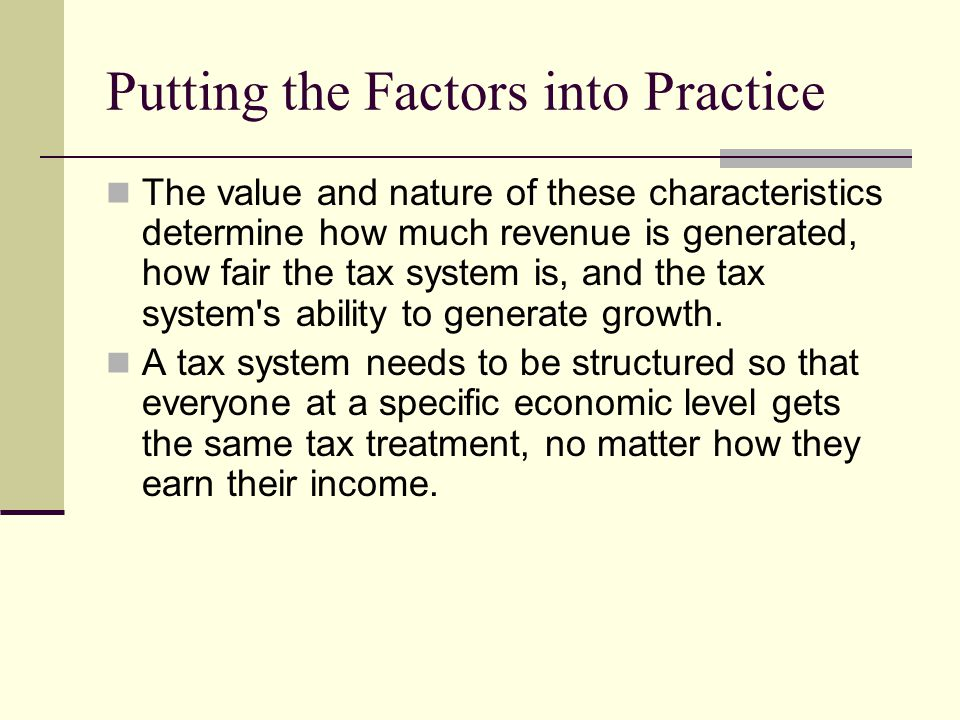 Putting the Factors into Practice