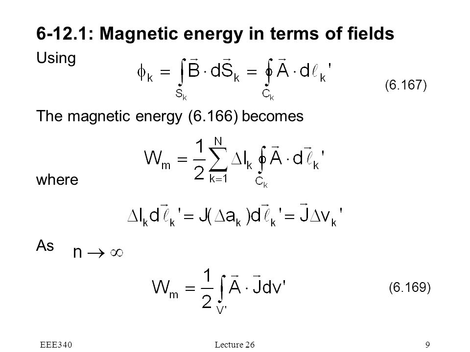 6-12.1: Magnetic energy in terms of fields