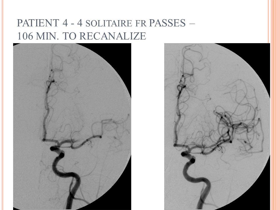 PATIENT 4 - 4 SOLITAIRE FR PASSES – 106 MIN. TO RECANALIZE