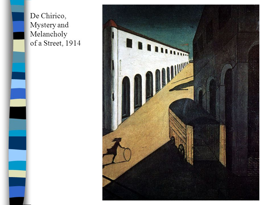 De Chirico, Mystery and Melancholy of a Street, 1914