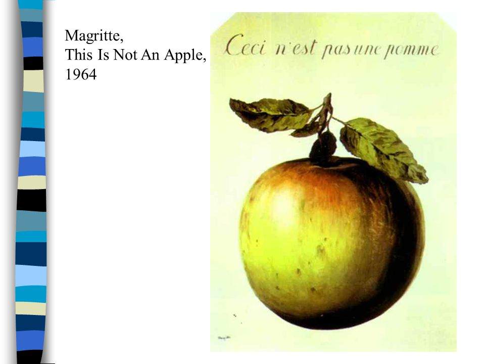 Magritte, This Is Not An Apple, 1964