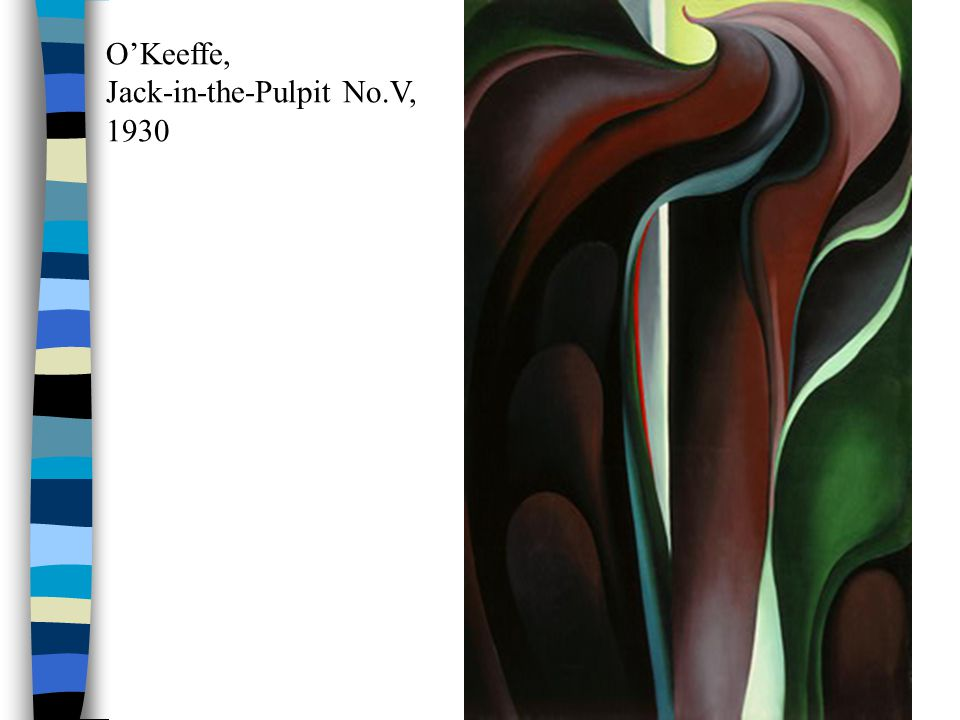 O'Keeffe, Jack-in-the-Pulpit No.V, 1930