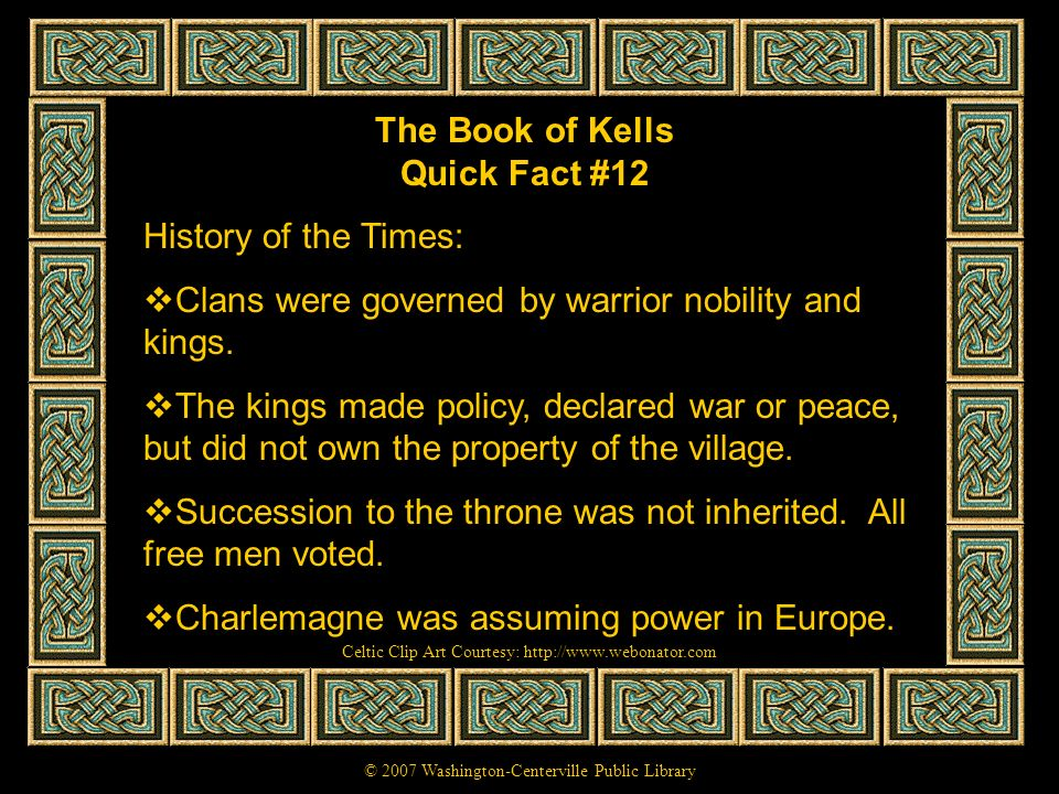 The Book of Kells Quick Fact #12